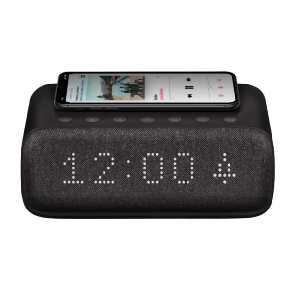 BOOM SPEAKER CLOCK AND WIRELESS CHARGER